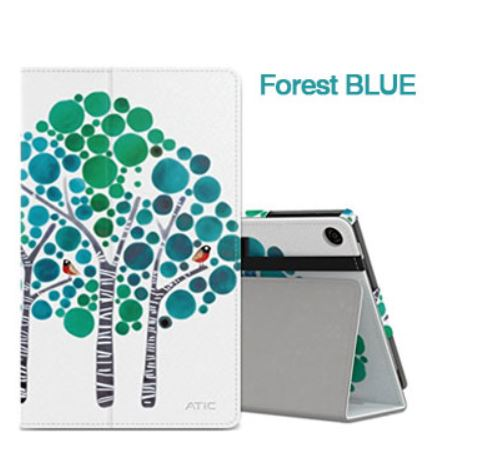 Fire HD8 ケース Forest BLUE